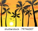 vector of silhouette of palm... | Shutterstock .eps vector #79746307