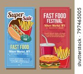 banner sale of fast food theme... | Shutterstock .eps vector #797465005