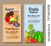 banner sale of fruits theme in... | Shutterstock .eps vector #797465008