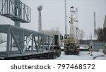 installation advertising lcd...   Shutterstock . vector #797468572