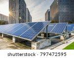solar and modern city skyline... | Shutterstock . vector #797472595