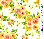 abstract elegance seamless... | Shutterstock . vector #797478586