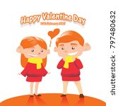 valentine couple boy and girl... | Shutterstock .eps vector #797480632