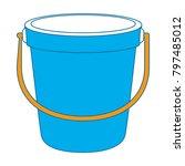 sand bucket beach icon   Shutterstock .eps vector #797485012