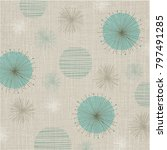 linen textured weave with... | Shutterstock .eps vector #797491285