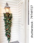 christmas decorations on porch... | Shutterstock . vector #79749727