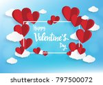 happy valentine day. with... | Shutterstock .eps vector #797500072