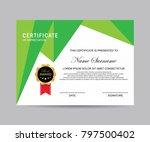 modern certificate vector | Shutterstock .eps vector #797500402