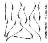 set of sketch doodle hand drawn ... | Shutterstock .eps vector #797502532