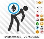 ethereum courier man pictograph ...
