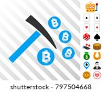bitcoin mining hammer icon with ...