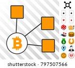 bitcoin nodes icon with bonus... | Shutterstock .eps vector #797507566