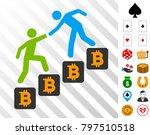 bitcoin business climbing help...   Shutterstock .eps vector #797510518