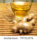 refreshing ginger tea... | Shutterstock . vector #797512576
