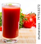 Small photo of Tomato Juice Drink Showing Refreshing Refreshments And Refresh