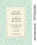 vintage wedding invitation... | Shutterstock .eps vector #797526382