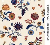 folk floral seamless pattern.... | Shutterstock .eps vector #797530066