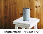 smart speaker on the stool | Shutterstock . vector #797535472