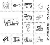 lift icons. set of 13 editable... | Shutterstock .eps vector #797536972