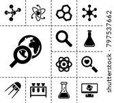 research icons. set of 13... | Shutterstock .eps vector #797537662