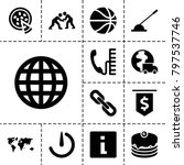 round icons. set of 13 editable ... | Shutterstock .eps vector #797537746