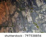 Small photo of Geological formation of rocks on the river Western Dagomys