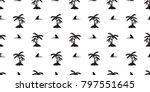 seamless pattern shark fin... | Shutterstock .eps vector #797551645