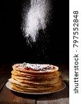 bakery. fresh bakery. pancakes. ... | Shutterstock . vector #797552848