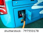 new energy bus battery charging | Shutterstock . vector #797553178