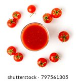 Tomato Juice In Glass And...