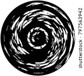 grunge black and white circle... | Shutterstock .eps vector #797563942