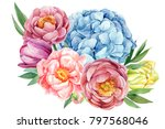 greeting card  bouquet of... | Shutterstock . vector #797568046