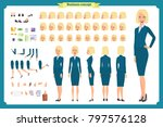 set of businesswoman character... | Shutterstock .eps vector #797576128