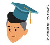 student man with graduation hat | Shutterstock .eps vector #797590342