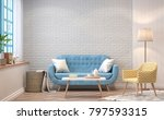 vintage living room 3d... | Shutterstock . vector #797593315