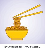 icon of tasty noodle | Shutterstock .eps vector #797593852