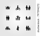humans icon set vector. child ... | Shutterstock .eps vector #797594272