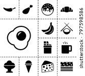 tasty icons. set of 13 editable ... | Shutterstock .eps vector #797598586