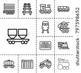 train icons. set of 13 editable ... | Shutterstock .eps vector #797598652