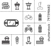 controller icons. set of 13... | Shutterstock .eps vector #797598682