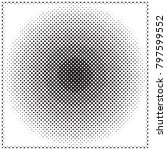 abstract halftone wave dotted... | Shutterstock .eps vector #797599552