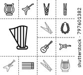 string icons. set of 13... | Shutterstock .eps vector #797601382