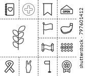 banner icons. set of 13...   Shutterstock .eps vector #797601412