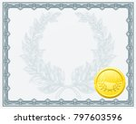 a qualification or award... | Shutterstock . vector #797603596