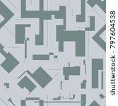 seamless abstract pattern... | Shutterstock .eps vector #797604538