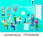 composition of modern education ... | Shutterstock . vector #797604658