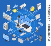 iot internet of things... | Shutterstock . vector #797605312