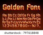 font golden symbol  gold letter ... | Shutterstock .eps vector #797618848