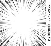 speed comic book vector texture | Shutterstock .eps vector #797619622