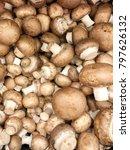 brown champignon mushrooms food ... | Shutterstock . vector #797626132